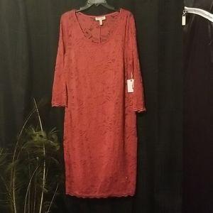 NWT Beautiful J. Simpson Pink Lace Maternity Dress